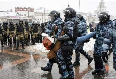 Detenciones en Rusia/Foto: AFP