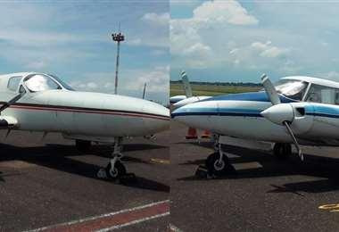 Dos avionetas con matrícula estadounidense que arribaron en octubre del pasado año