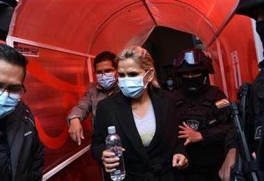 Áñez fue detenida en las últimas horas y trasladada a La Paz. Foto: APG