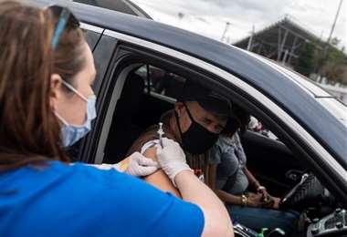 Vacunación anticovid en Estados Unidos /Foto: AFP