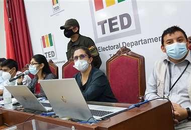 Vocales del TED de Tarija
