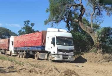 Los camiones que transportaban la mercancía también fueron comisados