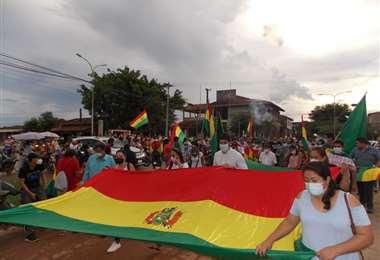 Cívicos y autoridades repudiaron aprehensión de Áñez (Foto: APG)