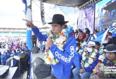 Franklin Flores puede ganar la gobernación paceña en primera vuelta. Foto: Internet
