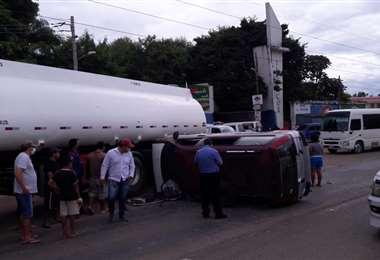 Accidente en la ruta a Cotoca/Foto: Juan Carlos Rocha Roca