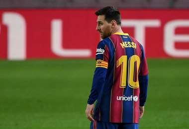 Messi jugó este lunes su partido número 767 con la camiseta del Barcelona. Foto. AFP