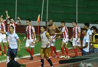 Celebra Independiente el gol del empate. Foto: Ricardo Montero