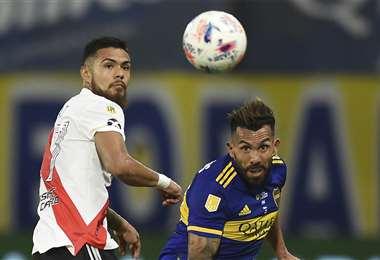 El clásico argentino sin vencedores. Lo ganaba Boca y lo empató River. Foto: AFP