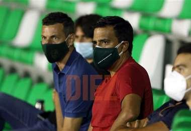 Farías estuvo en el empate entre Blooming e Independiente. Foto: Ricardo Montero