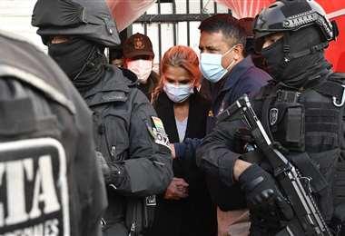 Jeanine Áñez fue detenida en las primeras horas del sábado 13 de marzo