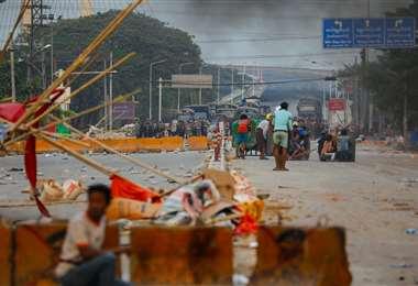 La disconformidad aumenta en Birmania. Foto AFP