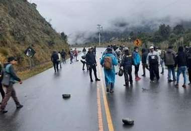 El bloqueo empezó en Unduavi y luego en Yolosa (Foto: RRSS)