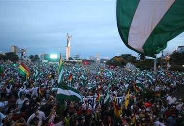 Una vez más la concentración fue masiva /Foto: Jorge Gutiérrez