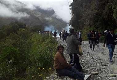 La Policía gasificó a los cocaleros en Unduavi Viejo (Foto: FMBolivia)