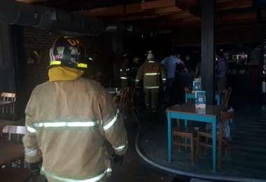 Incendio en restaurante