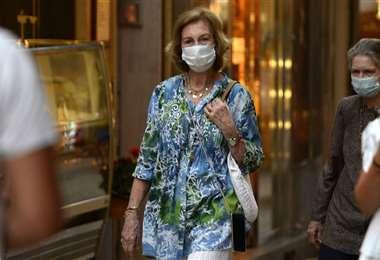 La reina Sofía recibió la vacuna en Madrid