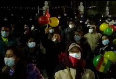 Protesta en Oruro en contra de las aprehensiones a exautoridades del gobierno de Áñez