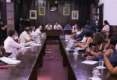 Sesión de la Brigada Parlamentaria