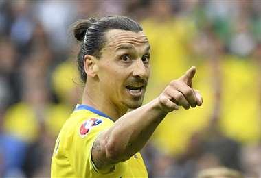 Zlatan Ibrahimovic, delantero del Milan y de la selección de Suecia. Foto: AFP