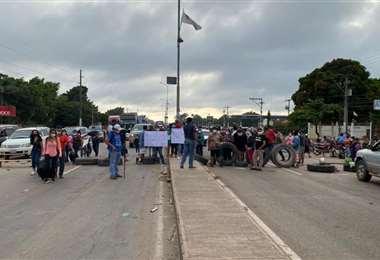Ante el corte de la ruta, piden a la gente toar sus previsiones. Foto: Dylan Vargas
