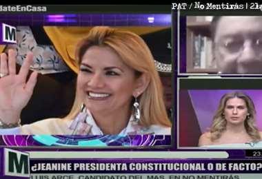 En un programa televisivo, Lusi Arce afirmó que la presidencia de Áñez fue constitucional