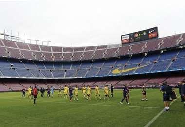 Los partidos en España se juegan sin público desde junio de 2020. Foto: Internet