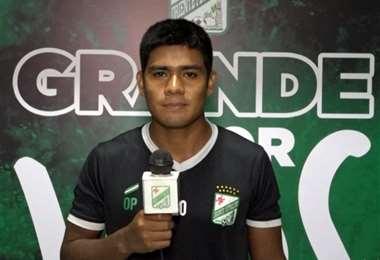 Rodrigo Saucedo fue titular en el partido ante The Strongest. Foto: Captura de pantalla