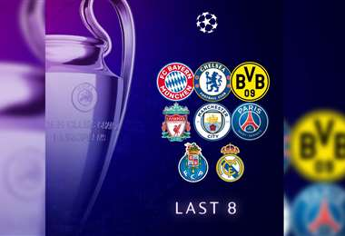 Estos son los ocho equipos clasificados a los cuartos de final. Foto: @ChampionsLeague