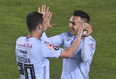 Bolívar goleó (5-0) el martes a Montevideo Wanderers de Uruguay. Foto: APG Noticias