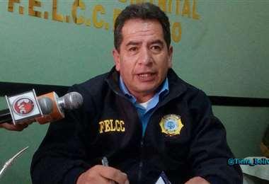Douglas Uzquiano, titular de la Felcc