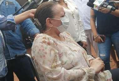 Eidy Roca, exministra de salud, acudió al Comité Cívico. Foto: Internet