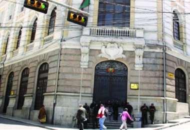 Frontis del edificio de la Cancillería en La Paz. Foto: Archivo