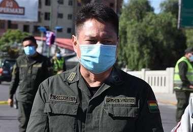Jhonny Corrales es el nuevo comandante departamental en Cochabamba. Foto: Los Tiempos