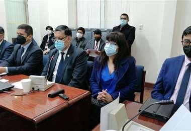 Juan Lanchipa brinda informe a la comisión de Justicia/Foto: Fiscalía