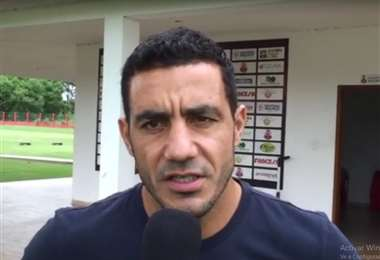 Juan Vogliotti, la cuota goleadora en Guabirá de Montero. Foto: Captura de pantalla