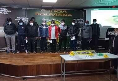 Los detenidos fueron identificados por policías y transportistas, según el reporte