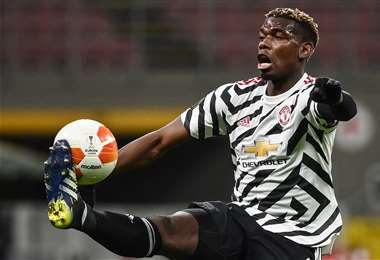Paul Pogba, mediocampista del Manchester United. Foto: AFP