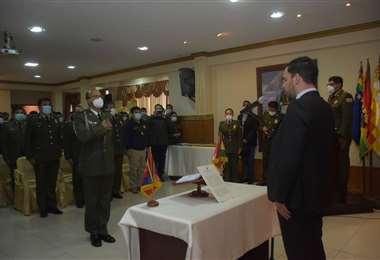 Sub oficial Vásquez, es nombrado como parte del nuevo Estao MayorFoto: APG