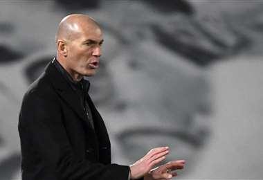 Zinedine Zidane, DT del Real Madrid. Foto: AFP