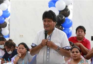 Evo Morales promueve campaña de candidatos del MÁS. Foto. Juan Carlos Torrejón