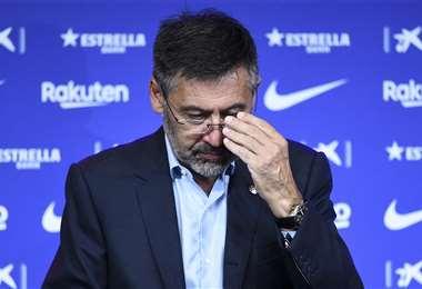 Josep Maria Bartomeu se acogió a su derecho de no declarar. Foto: AFP