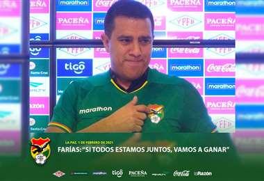 César Farías, entrenador de la selección nacional. Foto: Prensa FBF