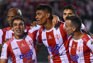 Díaz celebrando su gol. Foto: Club Independiente