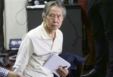Fujimori  está hospitalizado desde el viernes 19 de marzo