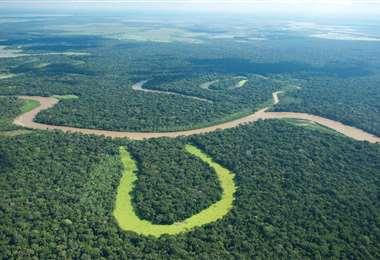 La cuenca del Amazonas, que alberga la mayor selva tropical del mundo