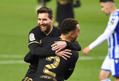 Lionel Messi marcó dos goles para el Barcelona. Foto: AFP
