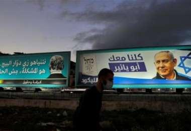 Vallas electorales en Israel