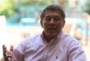 Erwin Peredo tiene a Blooming metido en la piel. Foto: Jorge Ibáñez