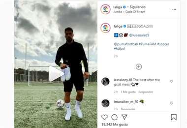 Captura de pantalla del video que hizo público LaLiga de España