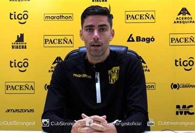 David Mateos, defensor español del Tigre. Foto: The Strongest